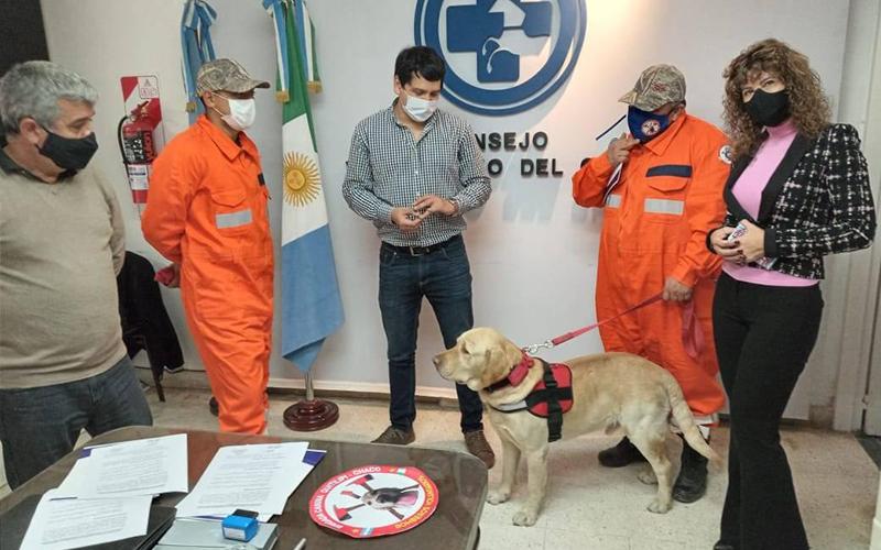 Convenio con Brigada Canina - Bomberos Voluntarios del Chaco